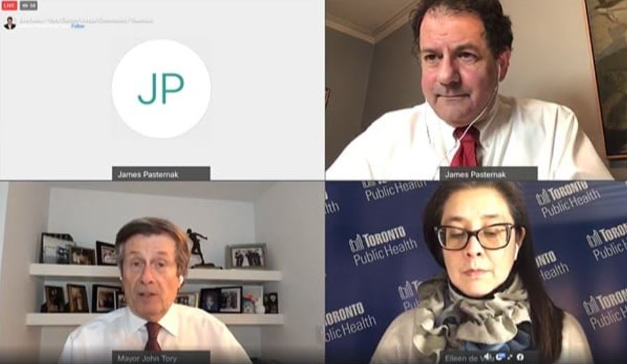 Screenshot from the virtual town hall